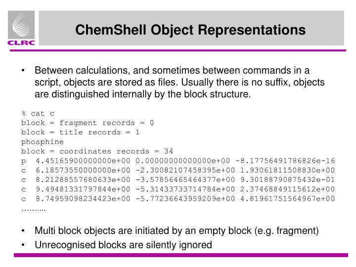 Between calculations, and sometimes between commands in a script, objects are stored as files. Usually there is no suffix, objects are distinguished internally by the block structure.