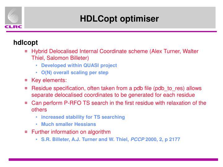 HDLCopt optimiser