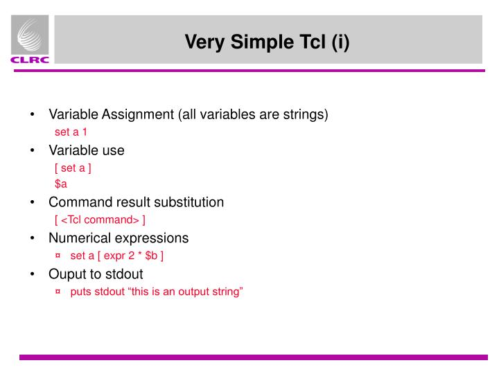 Variable Assignment (all variables are strings)