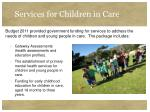 services for children in care