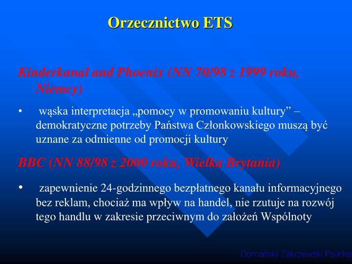 Orzecznictwo ETS