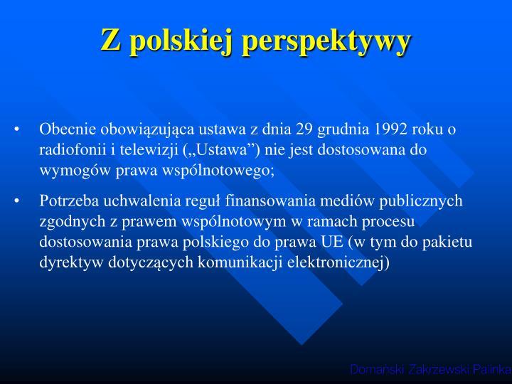 Z polskiej perspektywy
