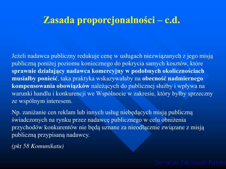 Zasada proporcjonalności – c