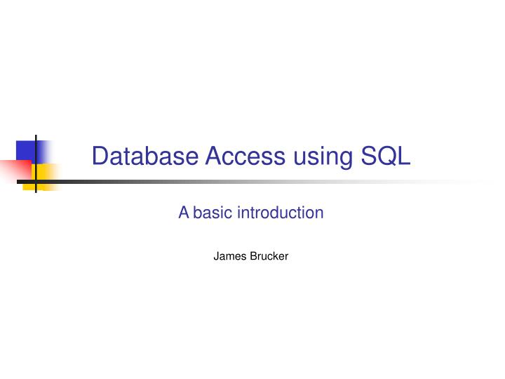 database access using sql n.