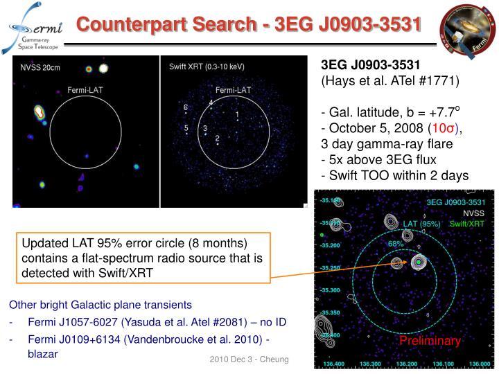 Counterpart Search - 3EG J0903-3531