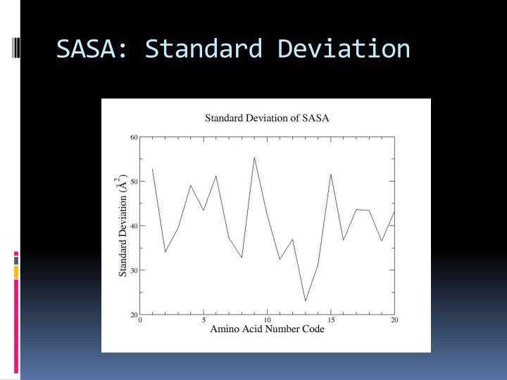 SASA: Standard Deviation