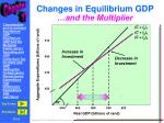 changes in equilibrium gdp
