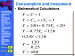 consumption and investment3