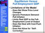 equilibrium versus full employment gdp2