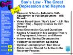 say s law the great depression and keynes