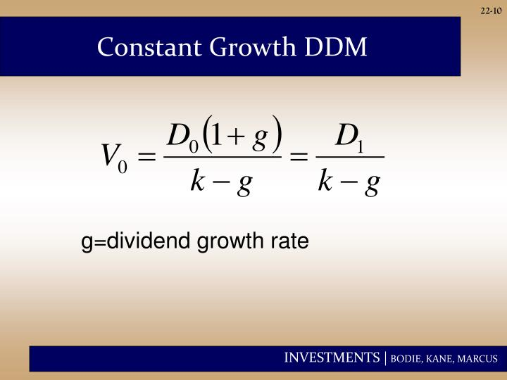 Constant Growth DDM
