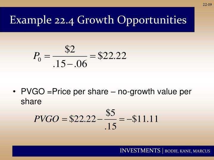 Example 22.4 Growth Opportunities