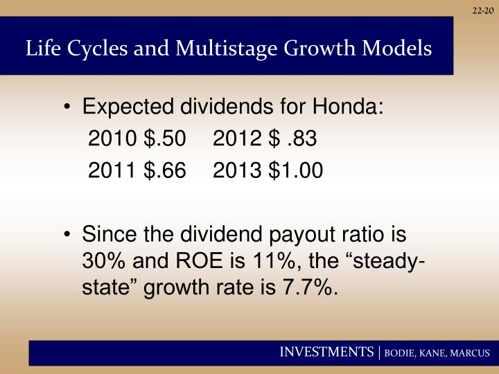 Life Cycles and Multistage Growth Models