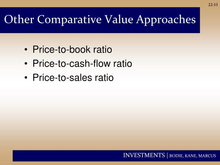 Other Comparative Value Approaches