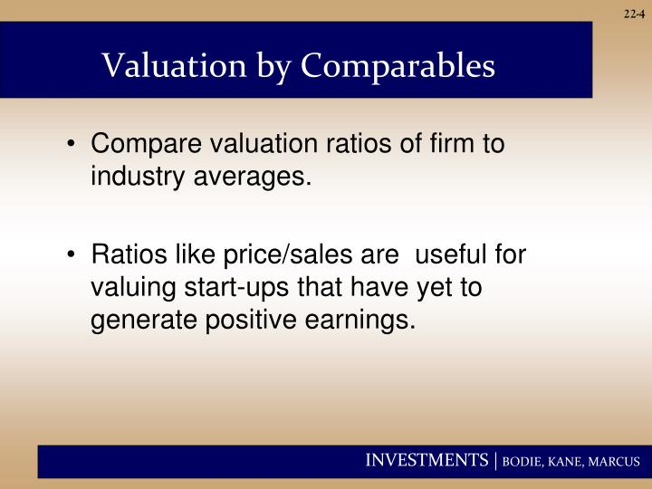 Valuation by Comparables