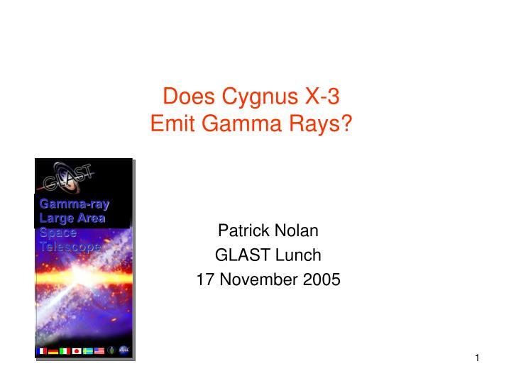 does cygnus x 3 emit gamma rays n.