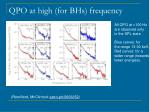 qpo at high for bhs frequency