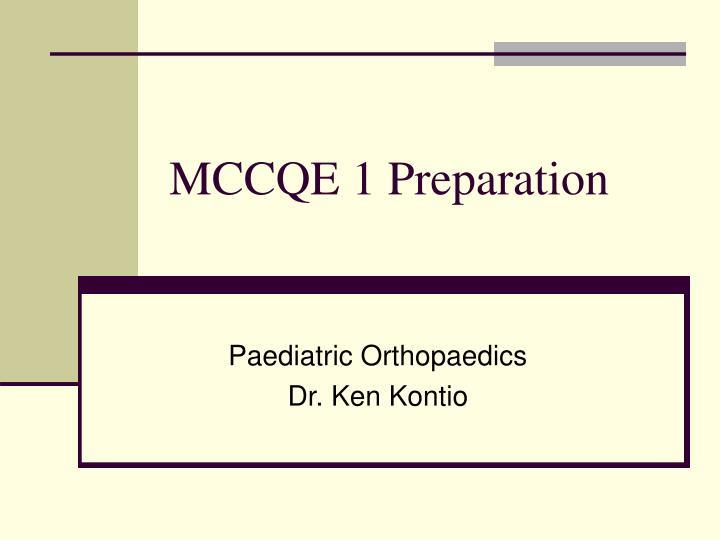 mccqe 1 preparation n.