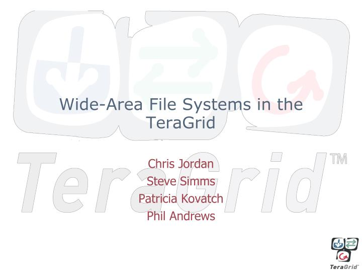 wide area file systems in the teragrid n.