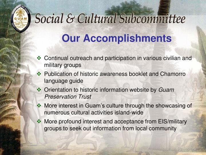 Our Accomplishments