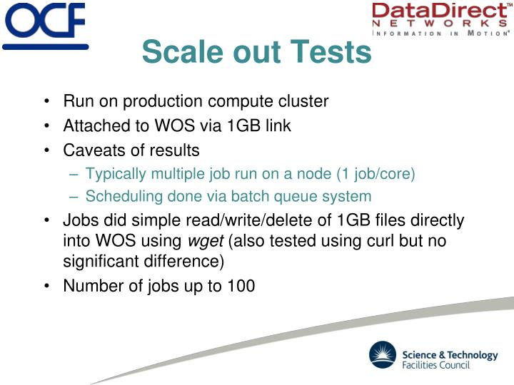 Scale out Tests