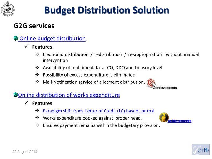Budget Distribution Solution
