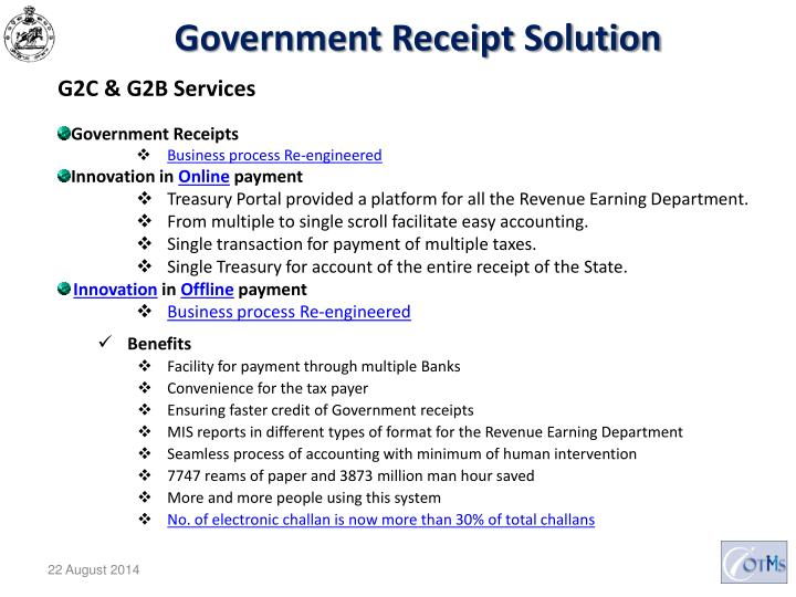 Government Receipt Solution