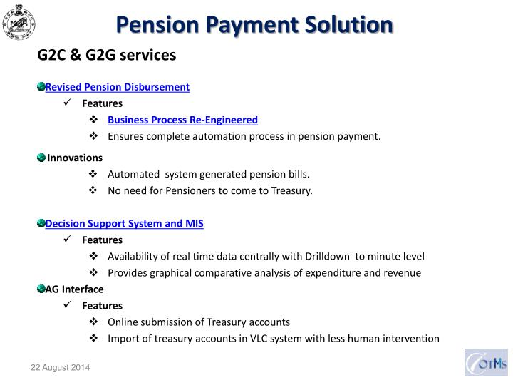 Pension Payment Solution