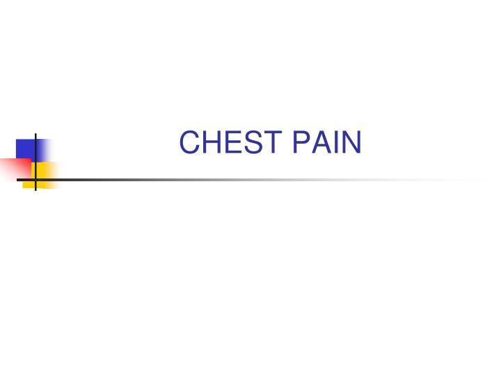 chest pain n.