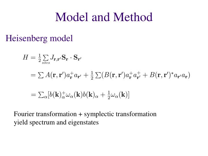 Fourier transformation + symplectic transformation
