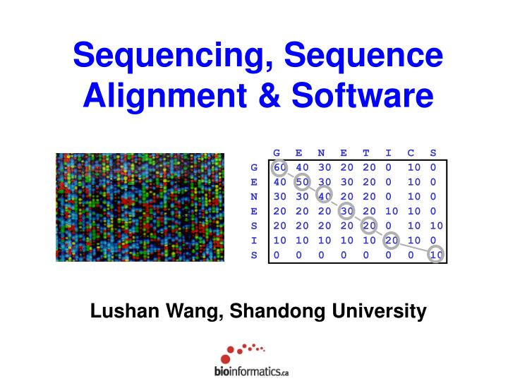 sequencing sequence alignment software n.