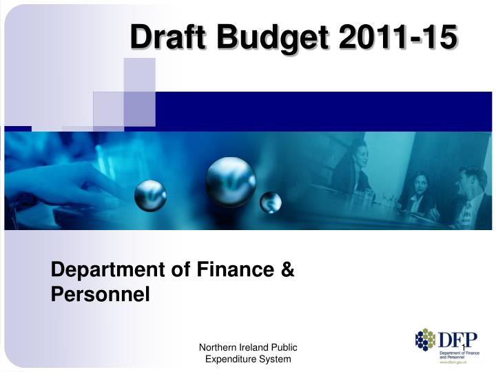 draft budget 2011 15 n.