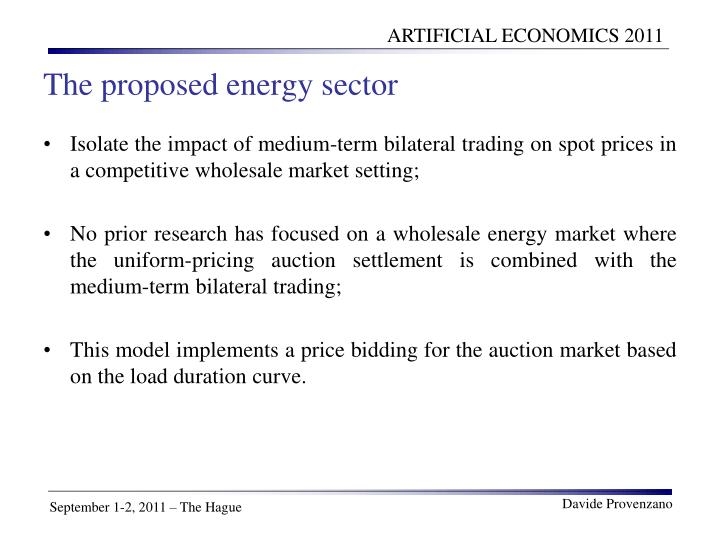 The proposed energy sector