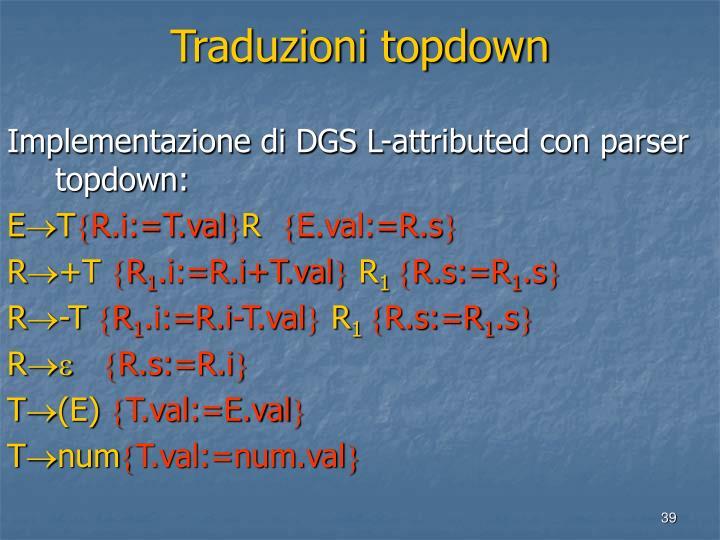 Traduzioni topdown