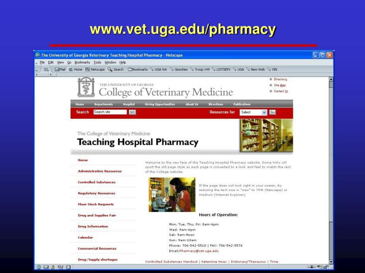 www.vet.uga.edu/pharmacy