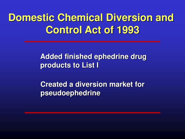 Domestic Chemical Diversion and