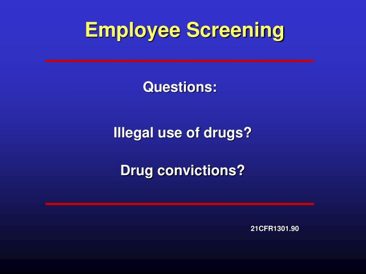 Employee Screening