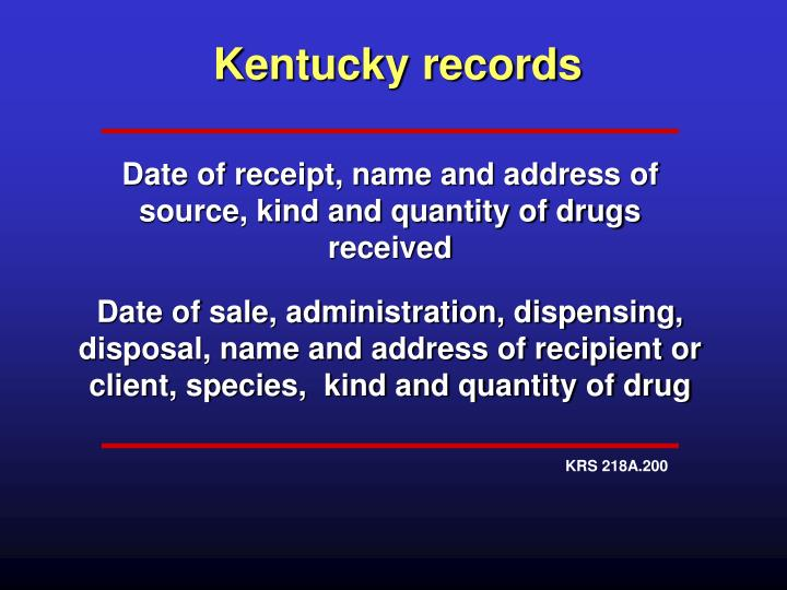 Kentucky records