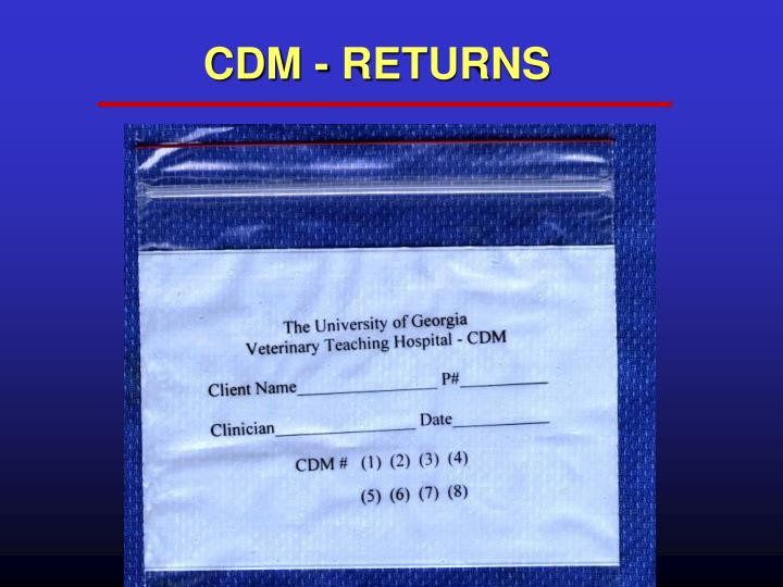 CDM - RETURNS