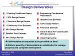 design deliverables