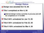 design status