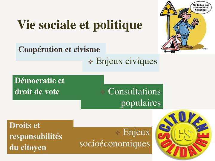 Vie sociale et politique