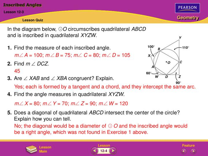 Ppt inscribed angles powerpoint presentation id3412642 inscribed angles ccuart