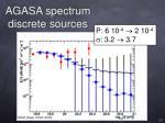 agasa spectrum discrete sources