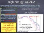high energy agasa