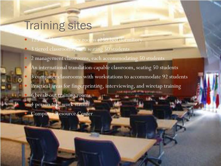 Training sites
