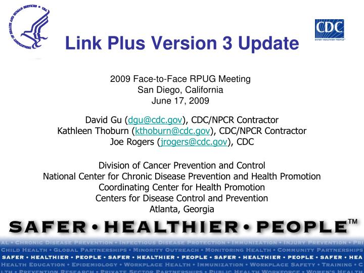 Link plus version 3 update