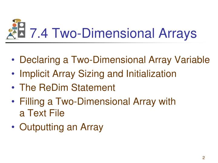7 4 two dimensional arrays