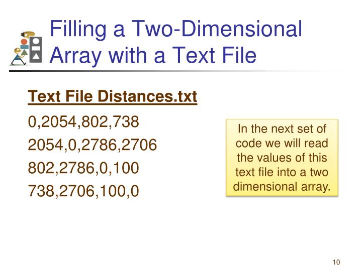 Filling a Two-Dimensional Array with a Text File