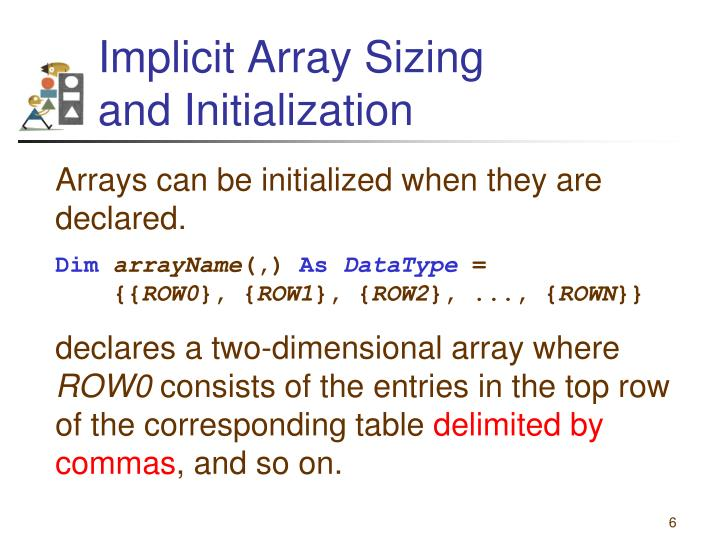 Implicit Array Sizing